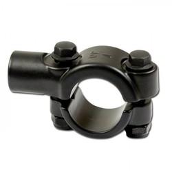 Mirror Black Handlebar Clamp 22mm M10