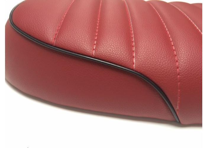 Tuck 'N Roll Stitch Brat Seat Maroon