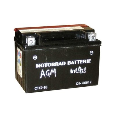 Intact Bike Power Batterie CTX 9-BS, Wartungsfrei, Mit Säurepack