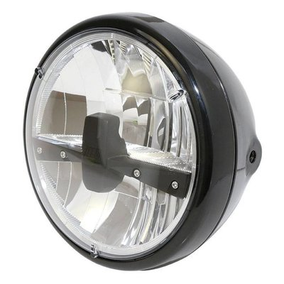 "Highsider 7"" Clear Black Koplamp RENO 3"