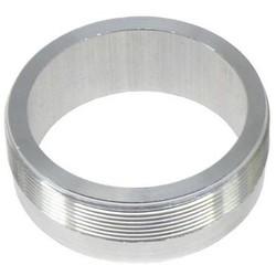 """2.5 """" Aluminium Flansch mit Gewinde (für Monza Kappen)"""