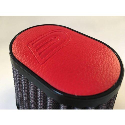 DNA 44 MM ovale filter lederen bovenkant rood