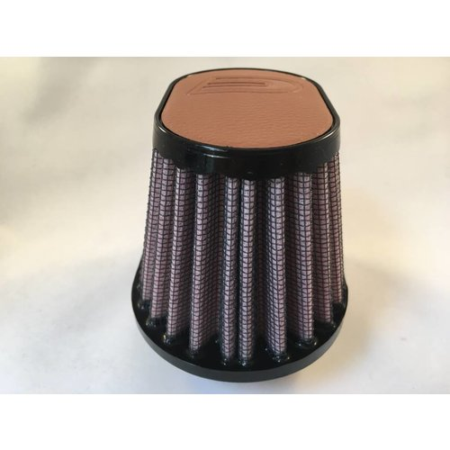 DNA 44MM Ovaal Filter Lederen Top Licht Bruin