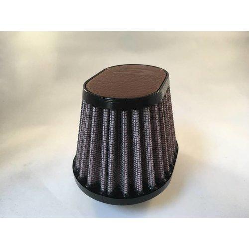 DNA 44MM Oval Filter Leder Top Dunkelbraun