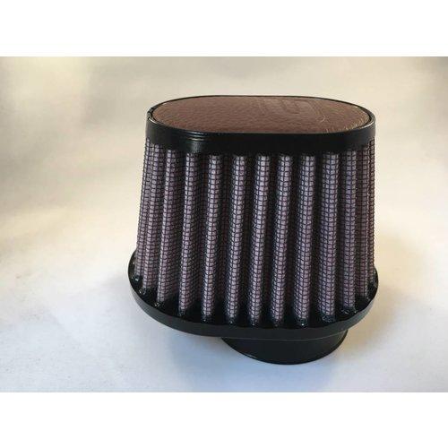 DNA 44mm ovale filter lederen bovenkant donkerbruin