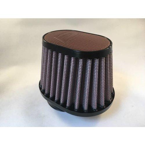 DNA 51 mm ovale filter lederen bovenkant donkerbruin