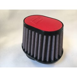 54MM Oval Filter Leather Top Red