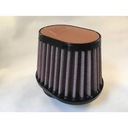 54MM ovale filter lederen bovenkant lichtbruin