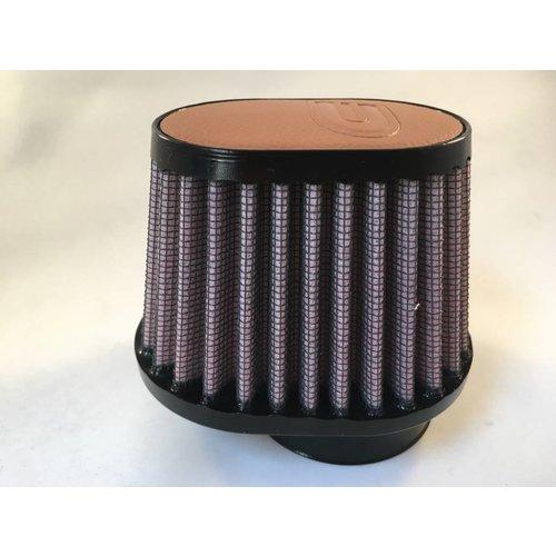 DNA 54MM ovale filter lederen bovenkant lichtbruin