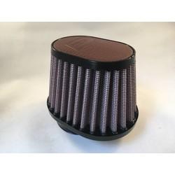 54 mm ovale filter lederen bovenkant donkerbruin