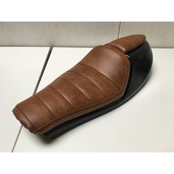"""Cafe Racer """"Neo"""" Seat Tuck 'N Roll Brown Type 3"""