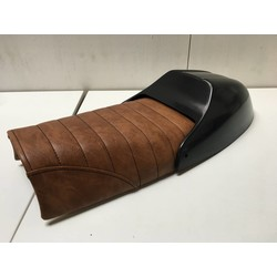 Scrambler Seat Tuck 'N Roll Brown Type 7