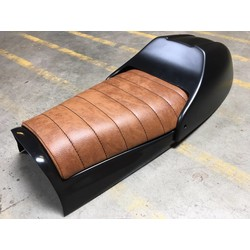 Scrambler Seat Tuck 'N Roll Brown Type 9