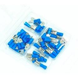 Assortiment de cosses plates bleues - 50 pièces