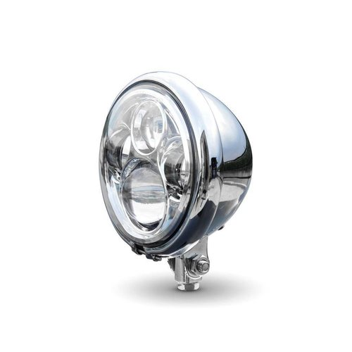 "5,75 ""CREE QUAD LED Bates Style Koplamp Bottom Mount Chrome"