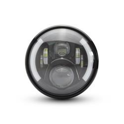 "7.7 ""Multi LED Scheinwerfer + Blinker Schwarz Typ 2"