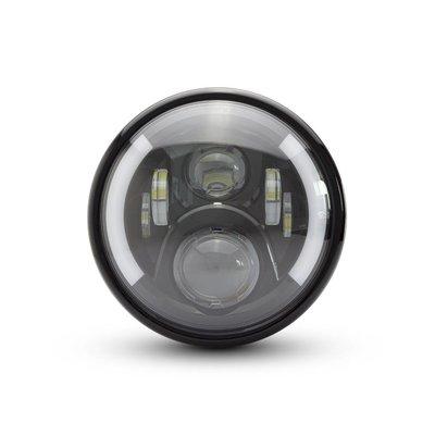 """7.7"""" Multi LED Headlight + Indicators Black Type 2"""