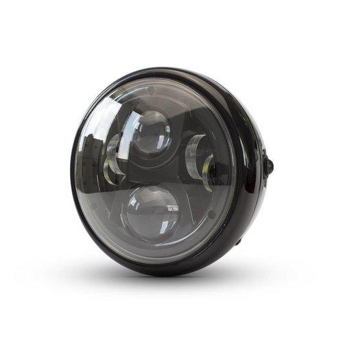 """7 """"Modern Multi LED-koplamp - zwart"""