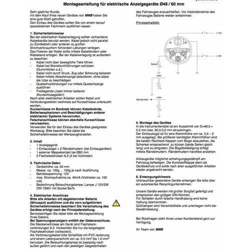 Voltmesser 48MM