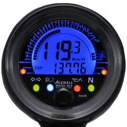 052-253S Mini Digitale Speedometer Km/h & RPM - Black