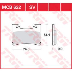 MCB 622V Remblokken Voor - Yamaha TDM 850