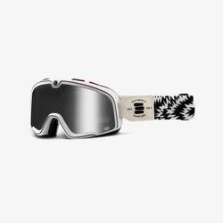 Barstow Death Spray Custom Goggles - Mirror Silver Lens