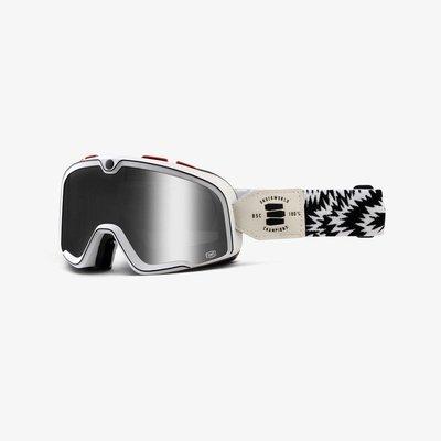 100% Barstow Death Spray Custom Goggles - Mirror Silver Lens