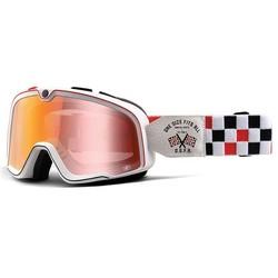 Barstow OSFA Custom Goggles - Spiegel Red Lens