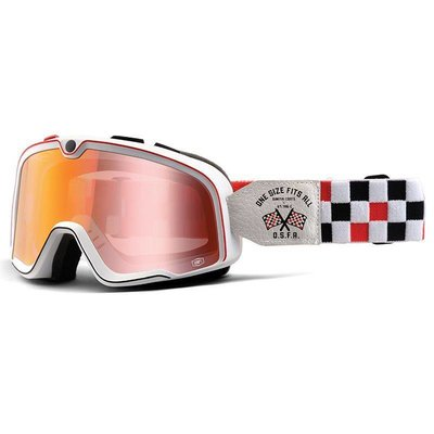 100% Barstow OSFA Custom Goggles - Spiegel Red Lens