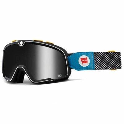 100% Barstow Deus Ex Machina Custom Goggles - Spiegel Silber Objektiv