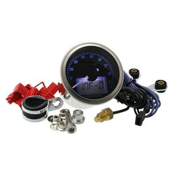 D55 Eclipse Style Toerenteller / Thermometer (max. 9000 RPM zwart)