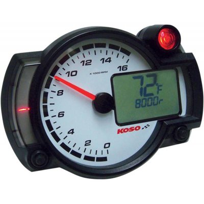 KOSO RX2NR+ - Tachometer with thermometer and temp. alarm - shiftlight