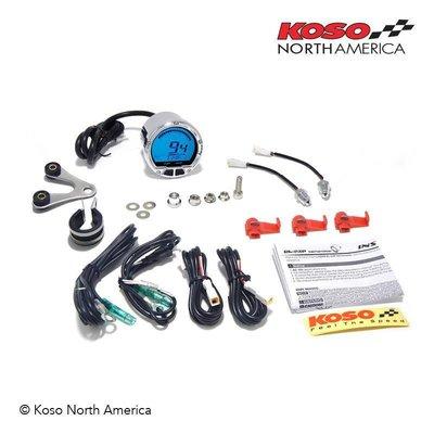 KOSO D55 DL-02R Tachometer/Thermometer Black (LCD-Display, 20000RPM)