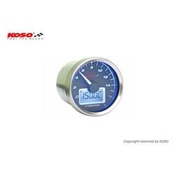 D55 GP-stijl toerenteller / thermometer (max. 9000 toeren zwart)