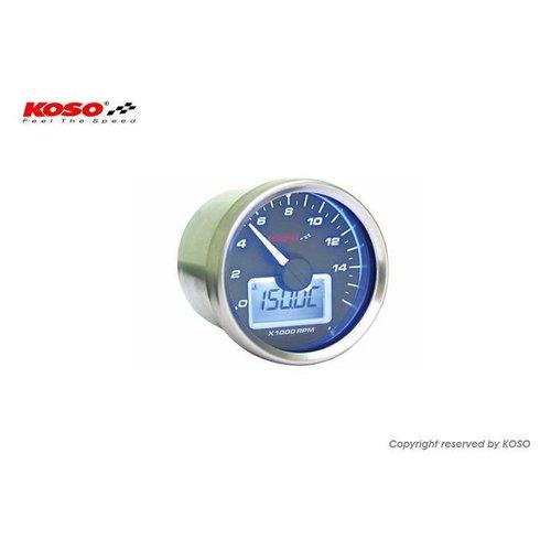 KOSO D55 GP-stijl toerenteller / thermometer (max. 9000 toeren zwart)