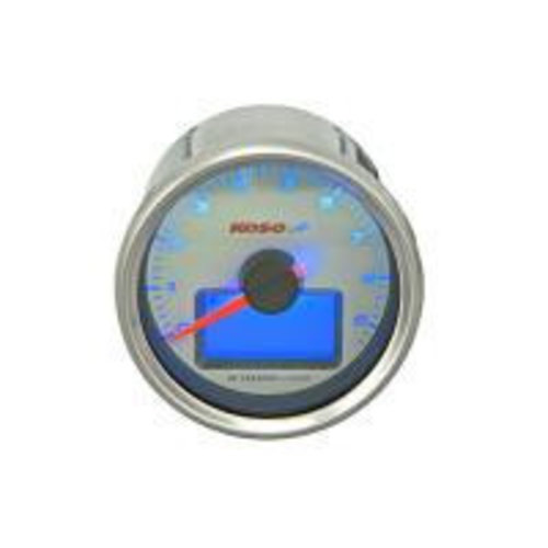 KOSO D55 GP Style Drehzahlmesser / Thermometer (max. 9000 RPM weiss)