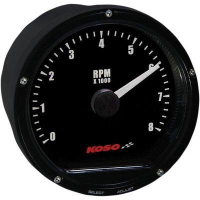 KOSO D75 Tachometer Black face 8000 RPM