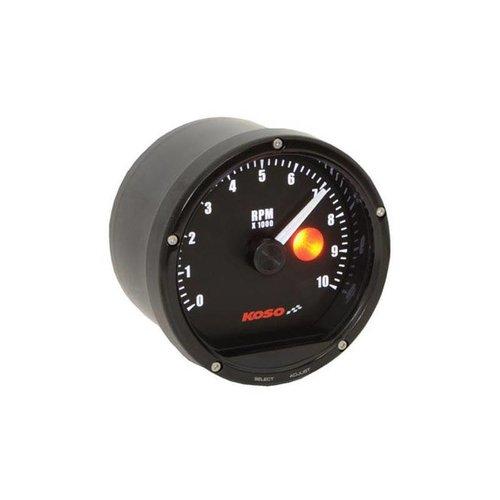 KOSO D75 Tachometer Black Face 10000 U / min (mit Shiftlight)