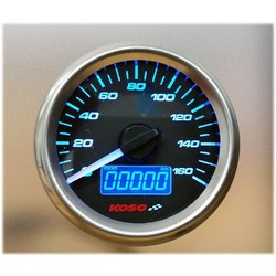 (max 160 km/h) D48 GP Style Snelheidsmeter, Benzine Meter, ODO