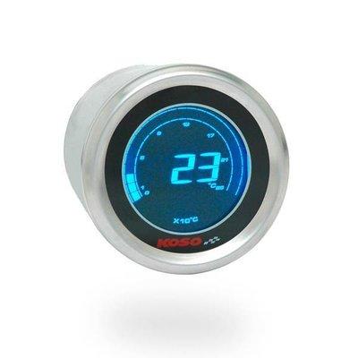 KOSO (max 250å¡C) D48 Thermometer (Zwart LCD - Blauw)