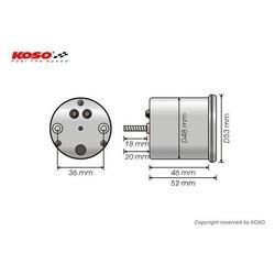(15000 RPM / 48mm) GP style Universele Toerenteller - Wit