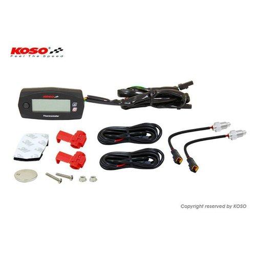 KOSO Dubbele Thermometer Mini 4 (Batterij) tot wel 250°