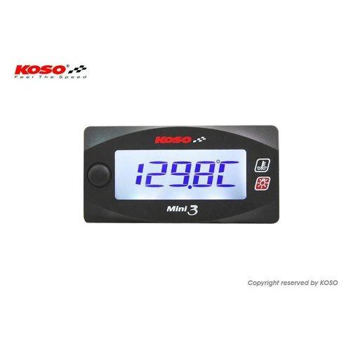 KOSO Dual Thermometer Mini 3 (mit Hintergrundbeleuchtung)