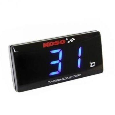 KOSO Thermometer SUPER SLIM blue