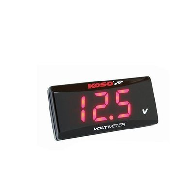KOSO Volt Meter SUPER SLIM red