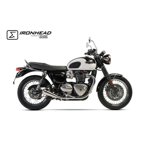 Ixil Ironhead demper voor Triumph Bonneville T120, 16- Chrome E-gemarkeerd