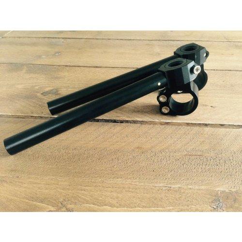 22MM verstellbare Clipons CNC schwarz (viele Größen)