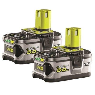Ryobi ONE + 2x  18V 5.0Ah Lithium Battery Twin pack RB18LL50