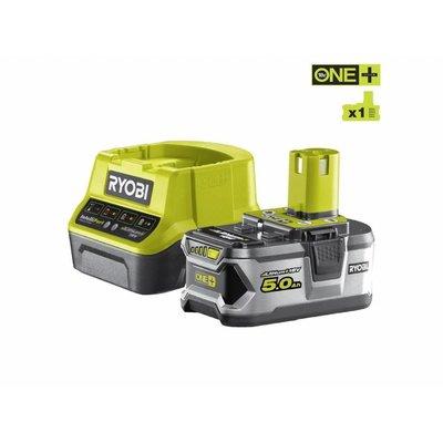 Ryobi ONE + 18V 5.0Ah Lithium Batterie + Ladegerät RC18120-150