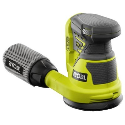Ryobi ONE + 18 V Exzenterschleifer + 5 Sandpapier + Staubbeutel in Geschenkbox R18ROS-0 *Body Only*